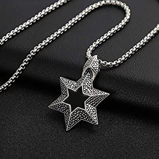 YaptheS Charm Jewelry Necklace Pendant Fashion Hip Hop Necklace Japan and South Korea Style Personality Street Dance Accessories for Men