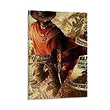 Call of Juarez Gunslinger Cover Leinwand Kunst Poster & Wandkunst Bilddruck Moderne Familienzimmer Dekor Poster 20x30inch(50x75cm)