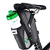 ROCKBROS Bike Saddle Bags with Water Bottle Pouch Waterproof Bike Bags Under Seat Pack for Mountain Road Bike Saddle Bag Bicycles Storage Bag 1.6L
