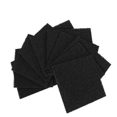 Flexzion Activated Carbon Solder Fume Extractor Filters Set of (10 Pack) - Fan Smoke Absorber Filter Replacements Square, Compatible for Flexzion 493, Valtcan 493 496 FA-400 Series Models