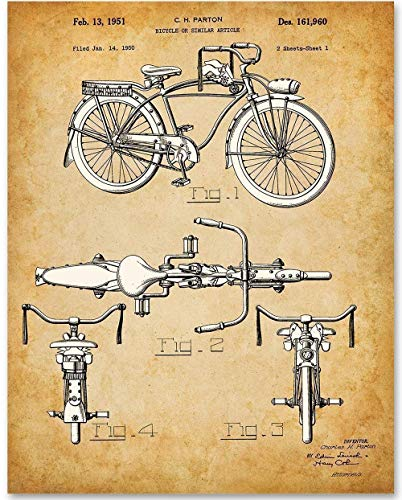 Schwinn Bicycle - 11x14 Unframed Patent Print - Makes a Great Gift Under $15 for Bicyclists and Outdoor Lovers