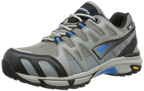 KangaROOS Damen Vojak WP Women Trekking- & Wanderhalbschuhe, Grau (dark grey/semi grey/sky blue 224), 39 EU