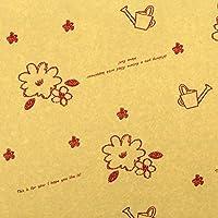【フジパック】メルヘン柄 包装紙 ラッピング 100枚 (クラフト)