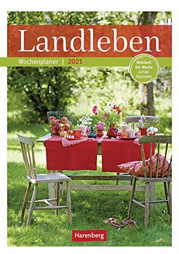 Landleben - Kalender 2021 - Harenberg-Verlag - Wochenkalendarium - 53 Blatt mit wundervollen Fotos - Wandkalender mit Platz zum Eintragen - 24,8 cm x 36 cm - Küchenkalender