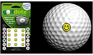 Golfdotz Golf Ball Transfers - Personalize Your Golf Ball - Yellow Be Happy