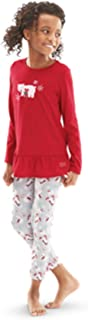 American Girl Truly Me Playful Polar Bear Pajamas for Girl Large 14/16 Red PJs NEW