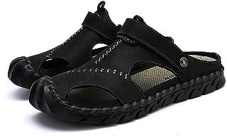 西漠公牛XIMO BULL 头层牛皮凉鞋 手工缝制拖鞋 两穿凉鞋 真皮包头沙滩鞋 FT60/2020Z