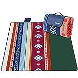 Homfa Manta de Picnic Impermeable Plegable Anti-Calor para Camping Playa Alfombra para Suelo Playa Jardín Parque de Franela para 4-8 Personas 200 x 200 x 0.2cm