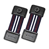 Vonjil Elastic Armbands, Shirt Garters Sleeve Holders, Elastic and Anti-Slip Shirt Cuff Sleeves Holders (Brown Line)
