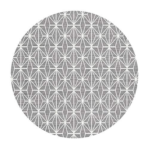 Alfombras Redondas Estilo nórdico Moderno para Sala de Estar Dormitorio Pasillo habitación Infantil Alfombra cojín de Silla de la Cesta (Color : #2, Tamaño : Diameter 100cm)