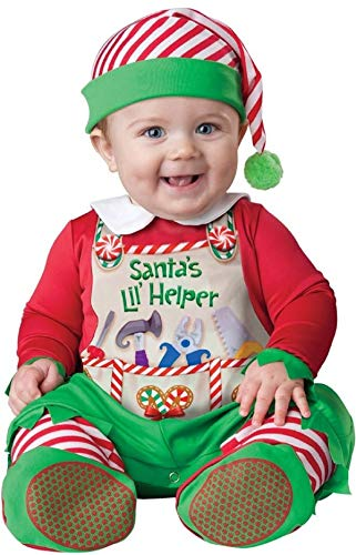 Fancy Me de bébé garçons Filles de Père Noël Little Helper Lutin Noël en Personnages Costume déguisement - Vert, Vert, 18-24 Months