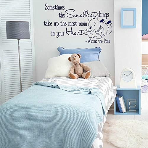 Winnie The Pooh Winnie l'ourson sticker mural autocollant pépinière sticker mignon coeur ours vinyle autocollant mural pour chambre d'enfants chambre lit bébé Star
