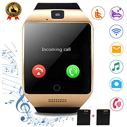 Smartwatch for Women Men Gifts Touch Screen Bluetooth Smart Watch with Camera Handsfree Call Step Counter Message Sports Watch Compatible with Android Samsung LG HTC Motorola Huawei BLU