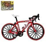 Kiwochy Decoración Modelo Bicicleta Miniatura Bicicleta 1: 8 (7.87 * 5.12 Pulgadas) Colección Juguetes Decorativos de fundición a presión Modelo Bicicleta Bicicleta de montaña Rojo