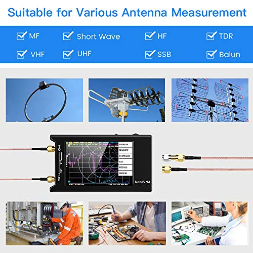 """NanoVNA-H4 Vector Network Analyzer Kit 10KHz-1.5GHz HF VHF UHF Antenna Analyzer Measuring S Parameters, Voltage Standing Wave Ratio, Phase, Delay, Smith Chart with 4"""" LCD Touch Screen (4.2 Version)"""