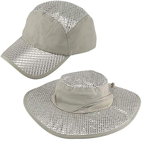 Sombrero de enfriamiento Anti-Rayos UV Prevenido por el Sol, Gorra de Uso seco y húmedo de Borde Ancho de Verano, Gorro de enfriamiento por Calor evaporativo (anti-80% de UV) (1#)