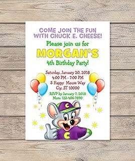 chuck e cheese invitations