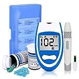 Fbestxie Medidor De Glucosa En Sangre Y Tiras Reactivas Diabetes Glucómetro Monitor De Azúcar En Sangre para Diabéticos, Kits De Glucómetro