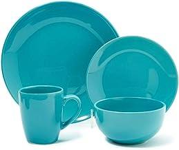 Opalina Stoneware Dinner Set, Blue, St-16A-Blue, 16 Pieces