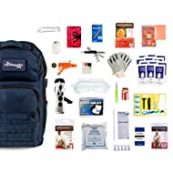 Redfora Complete Earthquake Bag - Most Popular Emergency kit for Earthquakes, Hurricanes, floods + Other disasters (1 Person, 3 Days, Blue Bag)