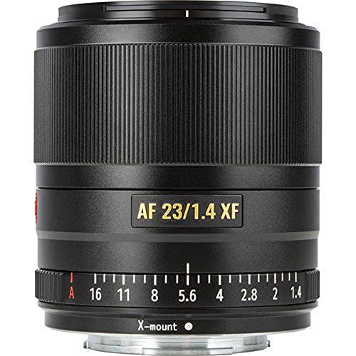 VILTROX Obiettivo grandangolare da 23 mm f1.4 XF, compatibile con fotocamere Fuji X Mount, alta intensità luminosa, ideale per ritratti WW, foto streetfotografie, architettura, viaggio e video