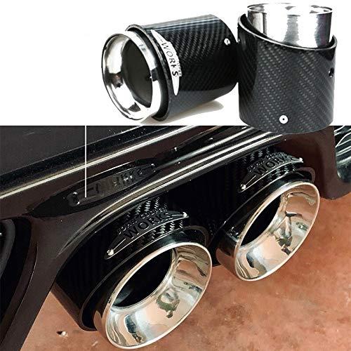 HCHD La Meilleure Qualité for Mini Cooper F54 F55 F56 F57 R60 R61 F60 R55 R56 R57 R58 R59 S JCW Fibre De Carbone Embout D'échappement Tuyau Accessoires Voiture (Color : R56 Cooper s)