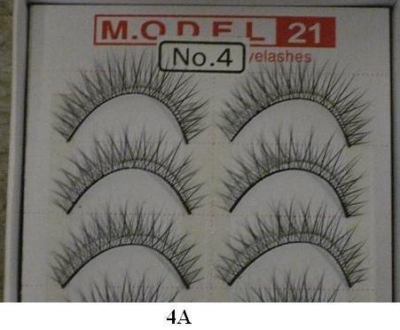 Model 21 False Eyelashes No. 4A - Light, 10 Pair by Model 21