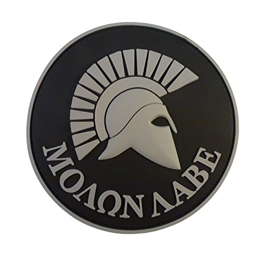 2AFTER1 ACU Gray Spartan Molon Labe US Navy Seals Morale Tactical PVC 3D Rubber Touch Fastener Patch