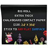 Oxdigi Black Chalkboard Contact Paper/24 x 394 inches/Large Chalk Board Roll Peel & Stick/Self Adhesive Wallpaper Blackboard Wall Decal Sticker Removable/Kids' Black Chalkboard/extra thick 0.3mm / CPP