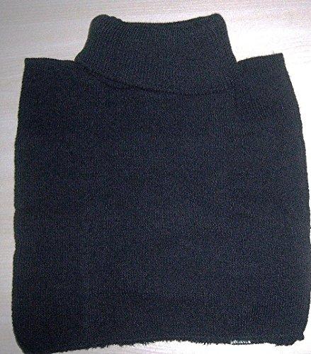 Rollkragen Einsatz Rollkrageneinsatz Krageneinsatz Strick Strickkragen schwarz (schwarz)