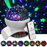 Night Light Projector, Elecstars Remote Control Night Lamp, 360 Degre Rotating Star Projector