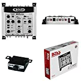 1 Crossover BOSS Audio System BX45 Bx 45 Ecualizador electrónico de 2/3 vías 3 Salidas Front/Rear/Sub con Control Remoto subwoofer Incluido, 1 Pieza