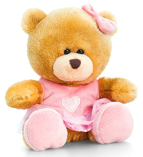 Lashuma Plüschtier Bär, Pipp The Bear als Ballerina, Kuscheltier Teddy angezogen, Kuschelbär mit rosa Kleidung 14 cm