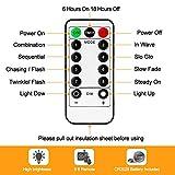 LED Lichterkette Batterie, otumixx 2er 10M 100 Micro LED Lichterkette 8 Modi Batteriebetrieben Kupferdraht Wasserdicht IP68 mit Fernbedienung und Timer für Innen/Außen Weihnachten Deko, Warmweiß - 6