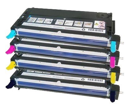 Set of 4 Toner Cartridges for Dell 3110 3110CN, 3115CN Black/Cyan/Magenta/Yellow