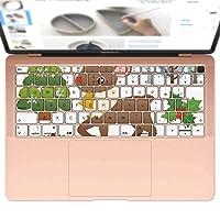 igsticker MacBook Air 13inch 2018 専用 キーボード用スキンシール キートップ ステッカー A1932 Apple マックブック エア ノートパソコン アクセサリー 保護 009267 クリスマス キャラクター