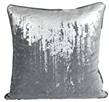 Nielsen Kissenbezug Reginald, 50x50 cm, Charcoal Silver (dunkelgrau/Silber), Samtkissenbezug,...