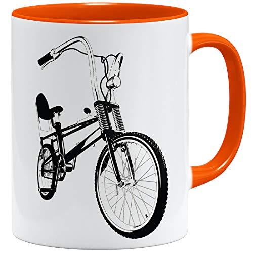 OM3® Bonanza Fahrrad Tasse || | Keramik Becher | 11oz 325ml | Beidseitig Bedruckt | Orange