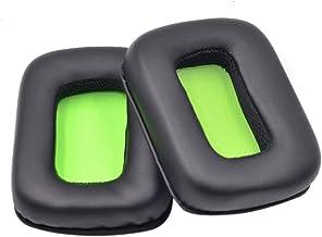 Cleme - Almohadillas para auriculares estéreo (1 par, extraíbles, con esponja sólida, fácil de instalar, reparación, para Mad Catz TRITTON Kunai), Verde, Tamaño libre