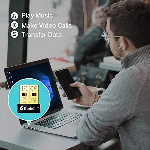 Sennheiser PXC 550-II Wireless Kopfhörer mit Alexa, Schwarz & TP-Link UB400 Nano USB Bluetooth 4.0 Adapter Dongle (für PC Laptop Desktop Computer, unterstützt Windows 10/8.1/8/7/XP)