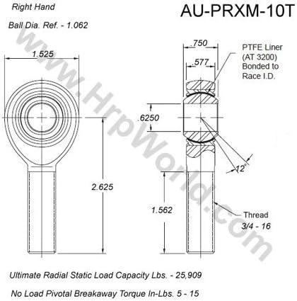 Aurora Bearing Company PRXM-10T.625