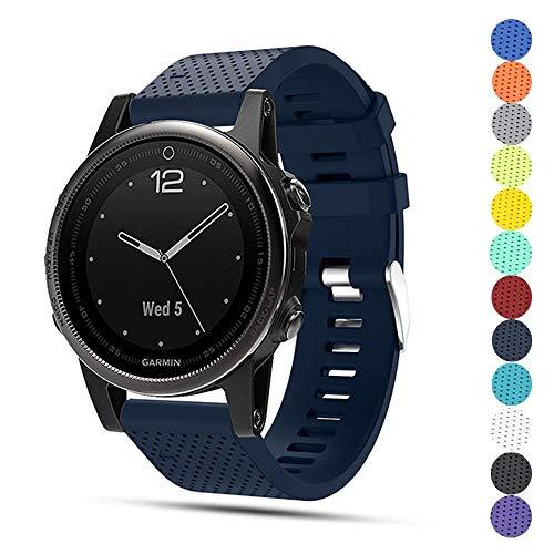 TOPsic Garmin Fenix 5S Armband - Silikon Sportarmband Uhr Band Strap Ersatzarmband Uhrenarmband für Garmin Fenix 5S/5S Plus/Fenix 6S/Fenix 6S Pro