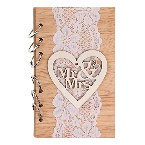 FEMONGY Hochzeit Gästebuch, 1 Artikel Gästebuch Hochzeit, Hochzeitsgästebuch, Aus Lindenholz,...