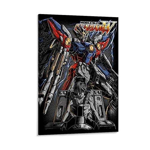 Gundam Wing HD Wallpapers Canvas Art Poster and Wall Art Picture Print Modern Family Bedroom Decor Posters 20x30inch(50x75cm)