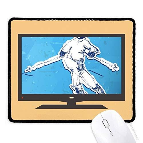 Winter Sport Snowboarden Illustratie Computer Mouse Pad Niet-slip Rubber Mousepad Game Office