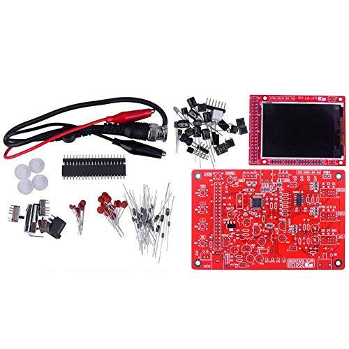 """Osciloscopio Synth Kit Dso 138 DIY 2.4"""" TFT 1msps osciloscopio digital con piezas de bricolaje y de mano de bolsillo Sondas 13803k Pre soldada SMD (rojo)"""
