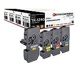4 Cartuchos de tóner Originales de Reton, 50% más de Potencia de impresión, como Repuesto para Kyocera TK-5240 para Kyocera ECOSYS M5526cdn, M5526cdw, P5026cdn, P5026cdw