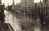 Ohio Flood 1913 Nflood Waters On Ludlow Street In Dayton Ohio During The Great Dayton Flood Photograph 26 April 1913 Poster Print by (18 x 24)