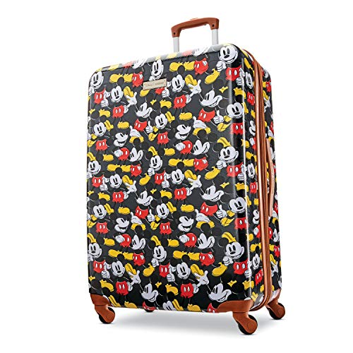 American Tourister Disney Hardside Luggage with Spinner Wheels, Mickey Mouse Classic, Checked-Large 28-Inch