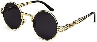 Steampunk Round Sunglasses Anti-UV Polarized Metal Frame Retro Sun Glasses Mirror UV400 Eyewear Polarized Vintage Outdoor ...
